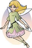 Cartoon fairy girl — Stock Vector