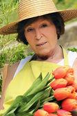 Garden woman — Stock Photo