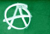 Anarchy symbol on wall — Stock Photo