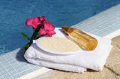 Massage oil and spa spirit — Stock Photo