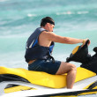 Man drive on the jetski — Foto Stock