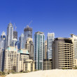 Dubai city, Marina District - Stock Photo
