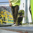 Royalty-Free Stock Photo: Skateboarder On a Skate Ramp