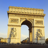 Arch of Triumph. Day time. Paris, France — Stock Photo