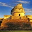 Stock Photo: Observatory at Chichen Itza,