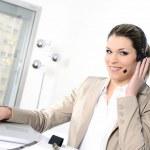 mujer de auriculares — Foto de Stock   #9577537