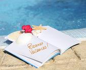 Szczęśliwy urlopów — Zdjęcie stockowe