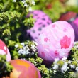 Some decorated easter eggs - Stock Photo
