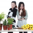 Stock Photo: Active Chinese girl Gardening