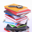 Many Colorful book  over white background. — Foto Stock