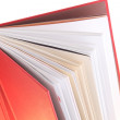 Stock Photo: Many Colorful book over white background.