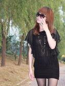 Una mujer asiática encantadora — Foto de Stock