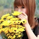 una bella donna asiatica — Foto Stock