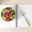 Many Colorful stationery of an assortment on a table. — ストック写真