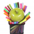 Many Colorful stationery of an assortment on a table. — Stock Photo #9267645
