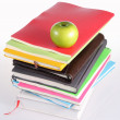 Many Colorful stationery of an assortment on a table. — Stockfoto