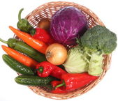 Colorful vegetable arrangement — Stock Photo