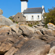 Point de Pontusval lighthouse, Bretagne, France — Stock Photo
