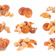 Bakery foodstuffs set - Foto Stock