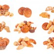Stock Photo: Bakery foodstuffs set