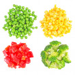 Stock Photo: Set of different frozen vegetables