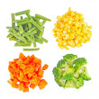 Set of different frozen vegetables — 图库照片