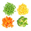 Set of different frozen vegetables — Stock fotografie