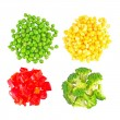 Set of different frozen vegetables — Stock Photo