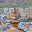 "Jodhpur the ""blue city"" in Rajasthan state - Stock Photo"
