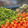 Various vegetables at vegetable market — Stock Photo