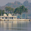 Beautiful building on the Lake in Udaipur - Stock Photo