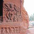 Sculpture at entrance of Cave at Badami — Stock Photo