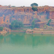 Lake Agusthya Teertha at Badami — 图库照片