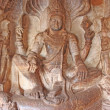Stock Photo: Sculpture at entrance of Cave at Badami