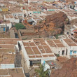 Aerial view of village houses in Badami — Stock Photo #9099049
