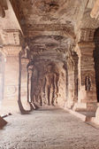 Sculpture at entrance of Cave at Badami — Stock Photo