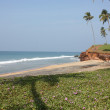 Exotic beach in Varkala — Stock Photo