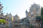 Famous Victoria Terminus Train Station — Stock Photo