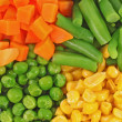 Different frozen vegetables — Stock Photo