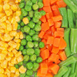 Different frozen vegetables — 图库照片