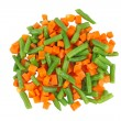 Stock Photo: Different frozen vegetables