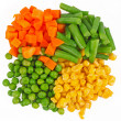 Different frozen vegetables — Stock Photo #9417218