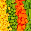 Different frozen vegetables — Stockfoto