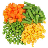 Different frozen vegetables — Stock Photo