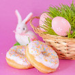 Easter eggs and rabbit — Foto Stock