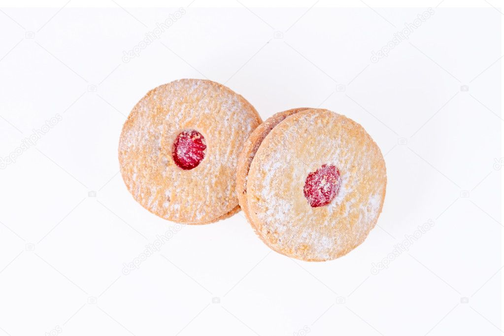 Cherry cakes isolated on the white background — Stock Photo #9805152