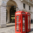 Red telephone boxes — Stok Fotoğraf #8770492