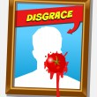 The disgrace frame - Stock Vector