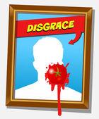 The disgrace frame — Stock Vector