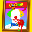 The clown frame — Vector de stock